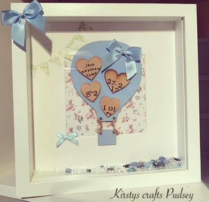 Hot Air Balloon Frame Blue - The Perfect Gift Co.