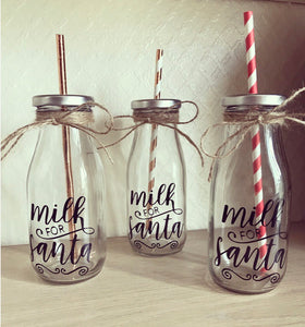 Santa Milk Bottle x1 - The Perfect Gift Co.