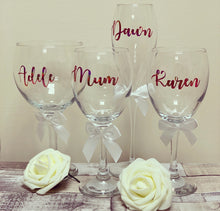 Gin, wine or champagne flute Glass (personalised) Rose Gold - The Perfect Gift Co.