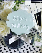 PERSONALISED CAKE TOPPER - GREEN