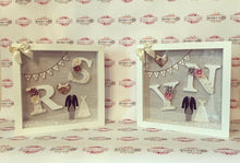 Wedding Frame Grey/ silver Backdrop (small letters) - The Perfect Gift Co.