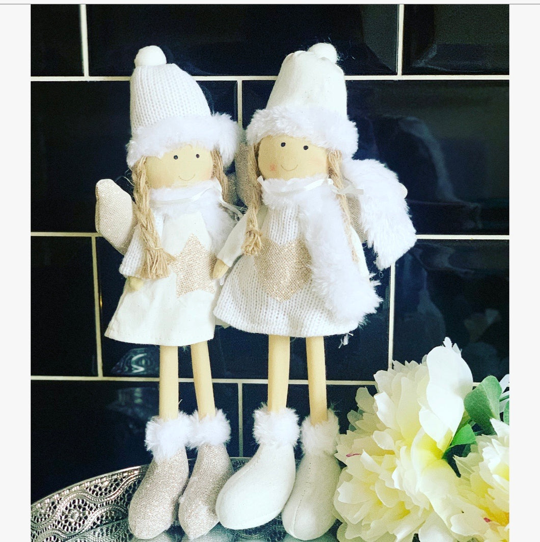 Freestanding Fabric Angels 2 pack