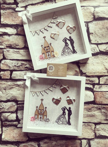 Wedding Frame Light grey Backdrop dancing couple - The Perfect Gift Co.