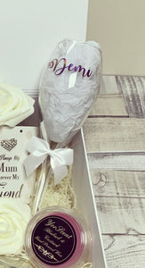 Made up DEMI champagne flute ( wording Demi only) make up stock for example - The Perfect Gift Co.