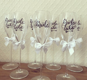 Bride Tribe / Bride Champagne Flutes - The Perfect Gift Co.