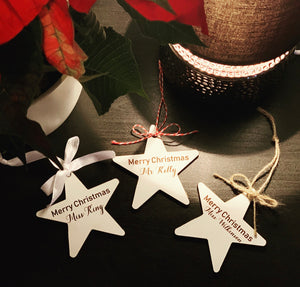 Teacher Wooden Bauble Star style 1 - The Perfect Gift Co.