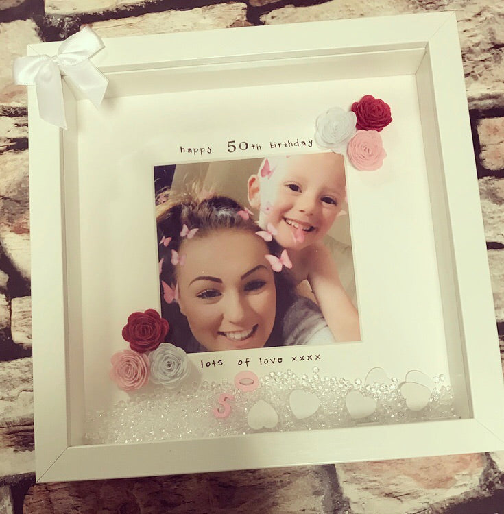 """Happy 50th Birthday"" Frame - The Perfect Gift Co."