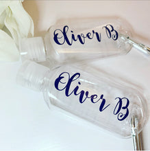 Re fillable Personalised Hand Sanitiser Travel Bottle 50ml
