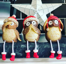 Brown Shelf Sitting Owls x3 - The Perfect Gift Co.