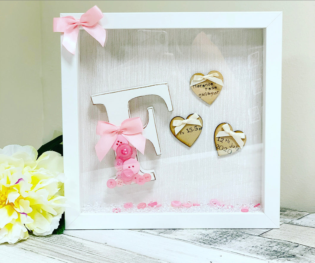 New Baby Arrival Frame Girl style 2