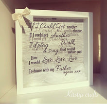Dance With My Father Again / memory frame - The Perfect Gift Co.