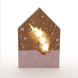 Mdf Unicorn light up LED Plaque - The Perfect Gift Co.