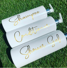 "Personalised Pump Bottle ""any wording"" GOLD - The Perfect Gift Co."