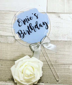 PERSONALISED CAKE TOPPER - BLUE - The Perfect Gift Co.