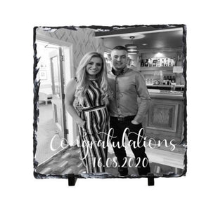 Engagement / New home Slate 19cmx19cm