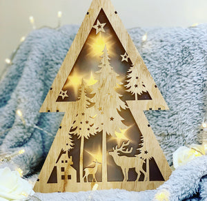 Light up LED Christmas Scene 30cm (2 left) - The Perfect Gift Co.