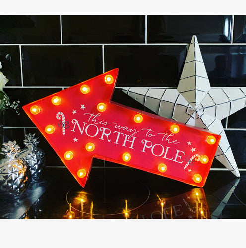North Pole light up Sign - The Perfect Gift Co.