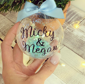 Personalised Glitter Bauble 8cm (various colours) - The Perfect Gift Co.