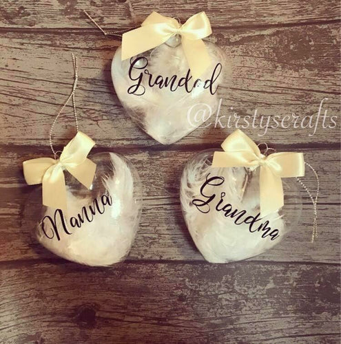 Glass heart bauble - The Perfect Gift Co.