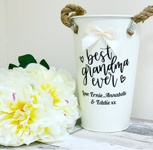 Personalised Rustic Tin Vase / Pot 25cm (large) - The Perfect Gift Co.