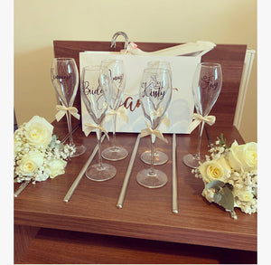 Champagne Flute With Name style 3 (love heart font) - The Perfect Gift Co.