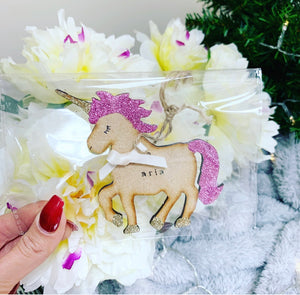 Personalised Unicorn Bauble - The Perfect Gift Co.