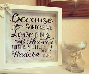 Defect Heaven Quote / Memory Frame - The Perfect Gift Co.