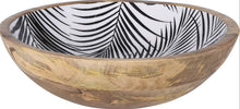 Enamelled Leaf Print Bowl 25cm - The Perfect Gift Co.