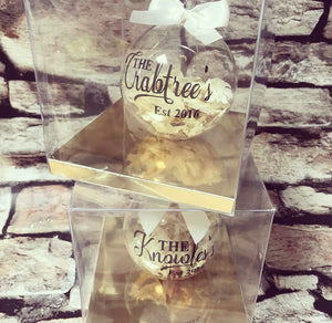 Glass Confetti Bauble 8cm - The Perfect Gift Co.