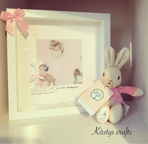 Rabbit Letter Frame - Girl (teddy not included) - The Perfect Gift Co.