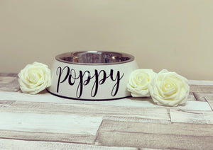 Large Pet Bowl, Dog, Cat Personalised - The Perfect Gift Co.