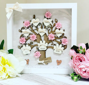 Family Tree Painted heart style (original style) - The Perfect Gift Co.