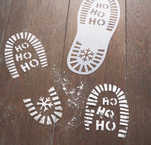 Santa Boot Foot Stencils footprint - The Perfect Gift Co.