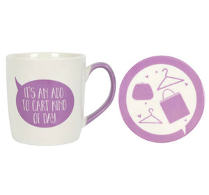 """It an add to cart kind of day"" Mug Set"
