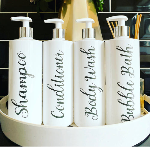 New Personalised Pump Bottle Angelina / Dark Grey