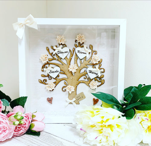 Family Tree Frame Cream/ Ivory