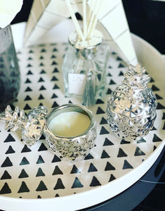 Silver pineapple Candles set of 2 (last set)