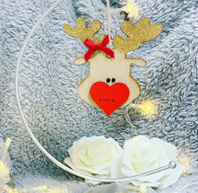 Personalised Reindeer head Bauble - The Perfect Gift Co.