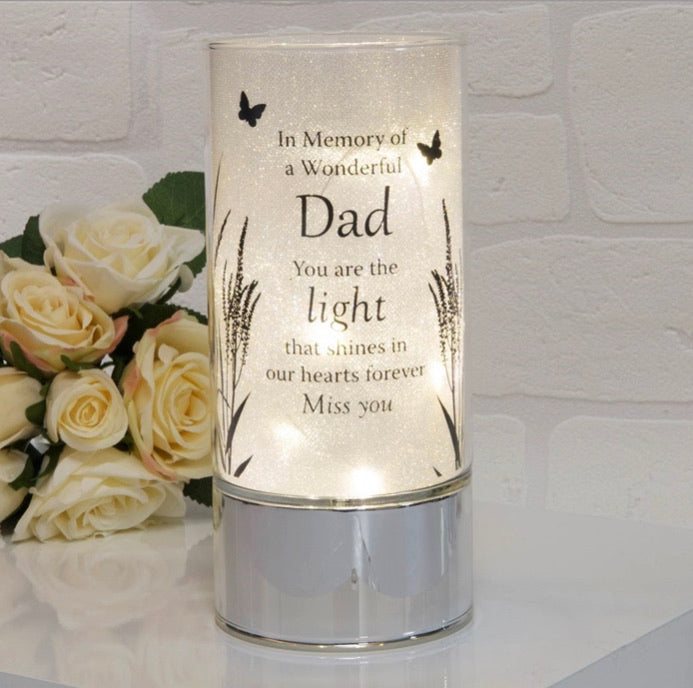 Glass Tube with LED LIGHTS - Dad - The Perfect Gift Co.