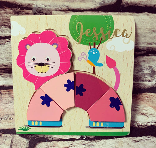 "Made up ""Jessica"" Personalised Jigsaw (Lion) - The Perfect Gift Co."