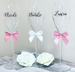 Champagne Flute style 2 With Name - The Perfect Gift Co.