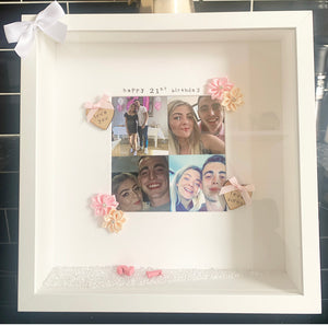 "Happy 21st Birthday"" Frame  (any milestone, leave at checkout) bridesmaid"