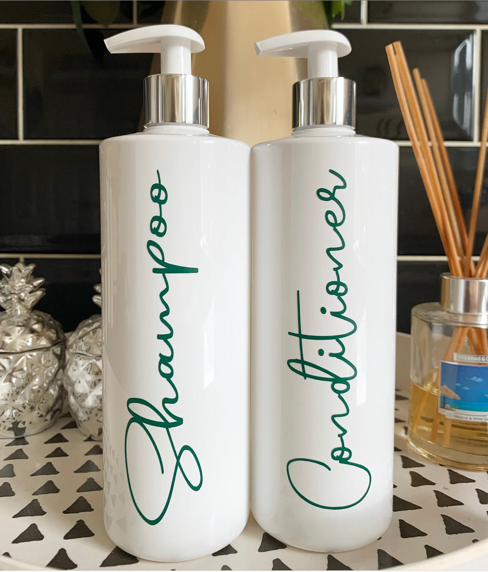 "Personalised Pump Bottle ""any wording"" Hunter Green"