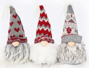 Santa heads with hats / Gonks set of 3