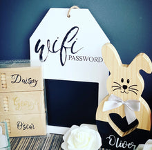 Wifi chalk board plaque (1 left)