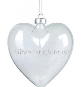 1st Christmas Bauble with Feathers