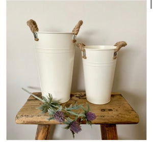 Plain Rustic Tin Vase / Pot 20cm - The Perfect Gift Co.