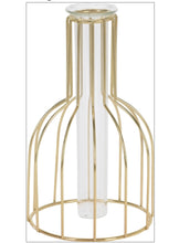 Tube vase / birdcage gold effect - The Perfect Gift Co.