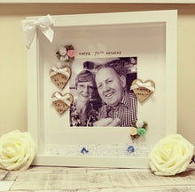 """Happy 70th Birthday"" Frame  (any milestone, leave at checkout) rose buds - The Perfect Gift Co."