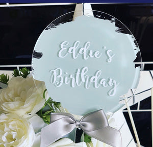 PERSONALISED CAKE TOPPER - GREEN - The Perfect Gift Co.